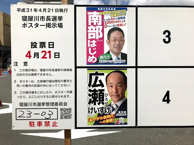 寝屋川市長選挙
