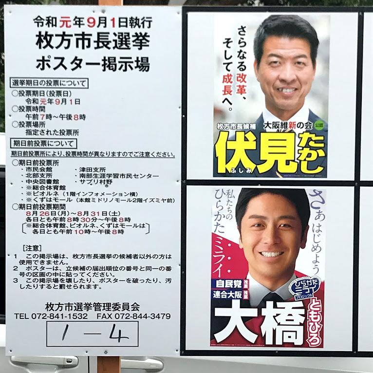 枚方市長選挙